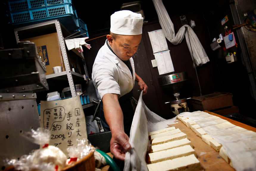 tofu making