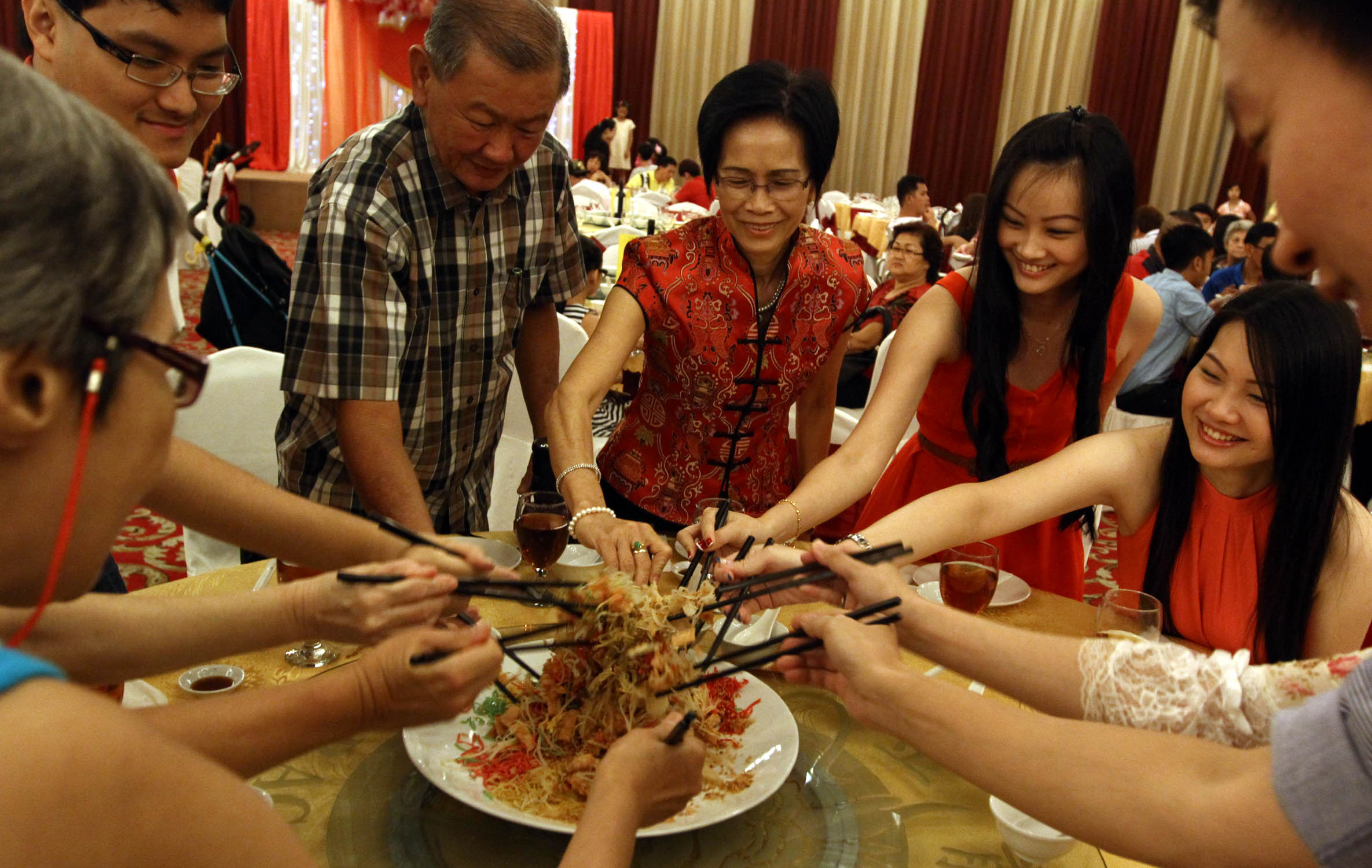 chinese new year dinner