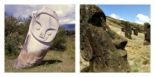 patung batu lore lindu dan pulau paskah