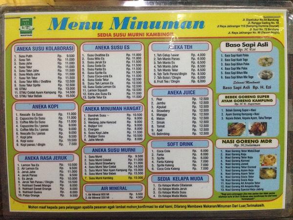 menu madtari 1