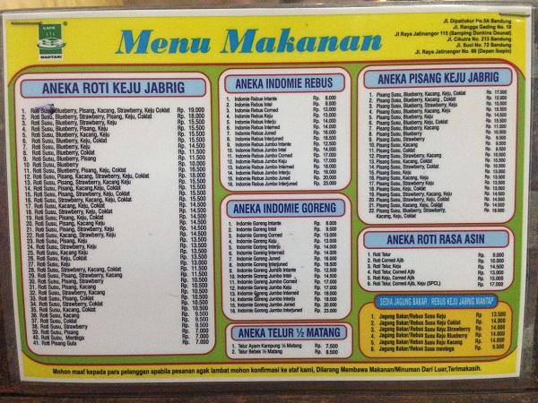 menu madtari 2