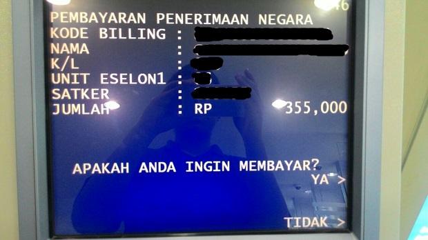 cek kode billing dan nama