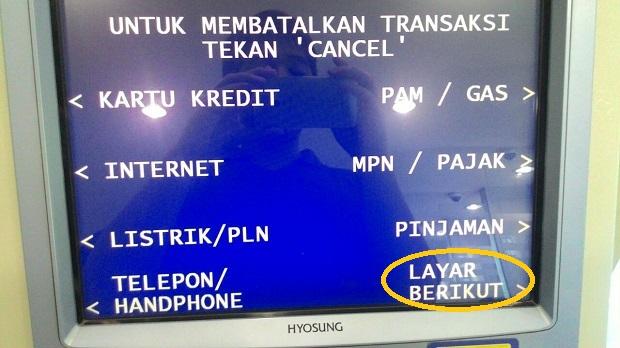 pembayaran layar berikut
